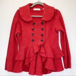 Anthropologie Jackets & Coats - Anthropologie Charlie & RobinRed Rose Sweatercoat